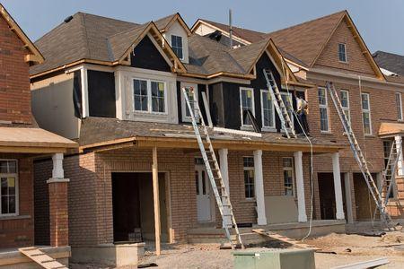 roof framing: construction 11 oshawa Stock Photo