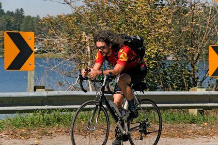 cycling me 01 year 2005 ontario Stock Photo