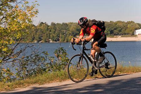 rid: cycling me 02 year 2005 ontario Stock Photo