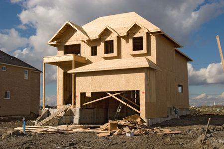 roof framing: construction 18. Stock Photo