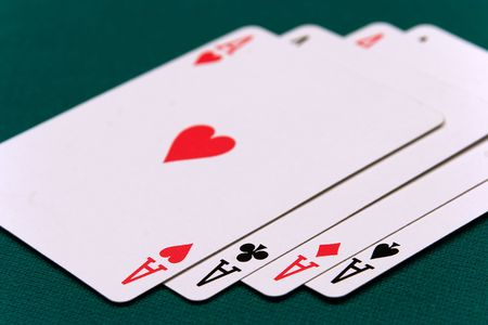 cards four or two card 01 aces. photo