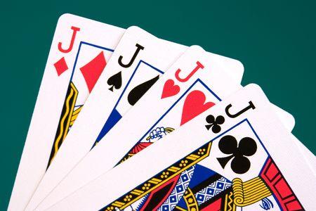 jacks: cards four cards 04 jacks. Editorial