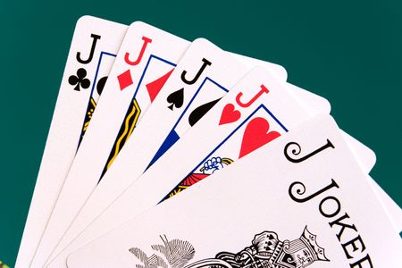 jacks: cards four cards 09 jacks joker. Editorial