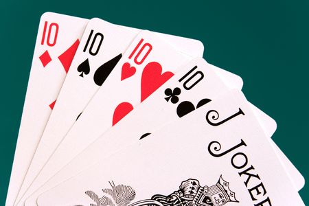 10s: cards four cards 10 10s joker. Editorial