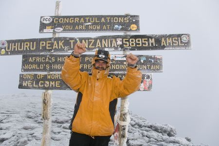 kilimanjaro: kilimanjaro 029 summit altitude 5896 m