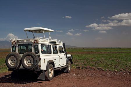 transportation 004 safari vehicle plus landscape