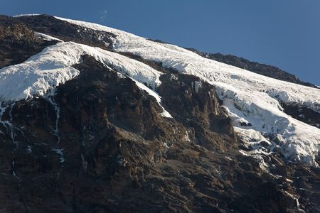 kilimanjaro 016 barranco hut camp summit view. Stock Photo