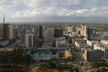 nairobi 011 view from the highrst building Stock Photo