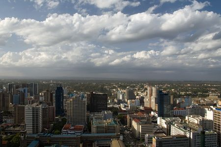 nairobi 012 view from highest building Stock Photo