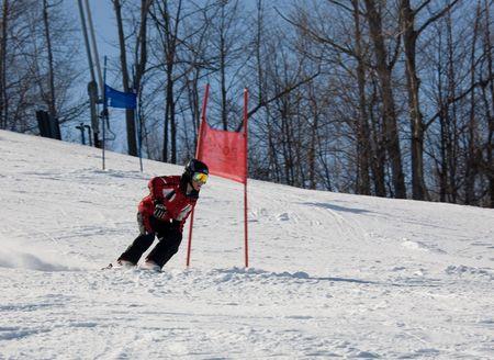 ski 023 downhill. Stock Photo
