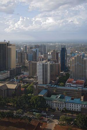 nairobi: nairobi 013. view from highest building Stock Photo