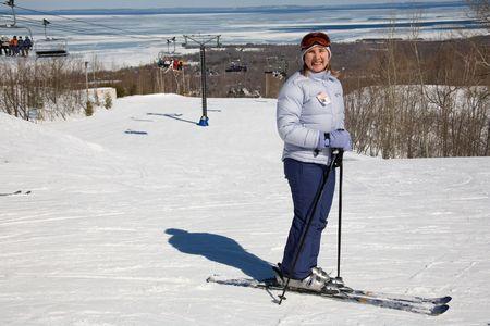 ski 009 toma. Stock Photo