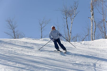 ski 010 toma downhill. Stock Photo