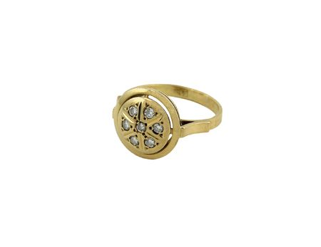 jewelery 005 gold ring with diamond isolated.