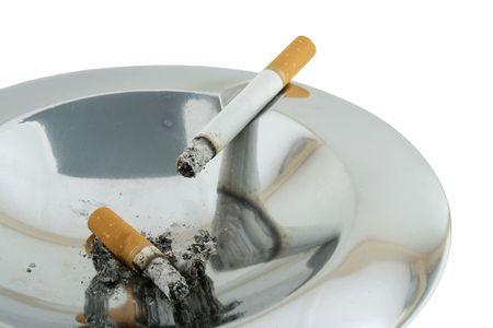 inhaled: smoke 08 ashtray isolated