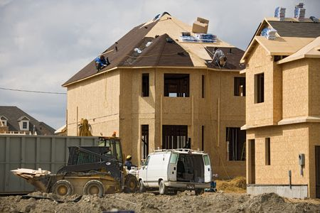 roof framing: construction roofing. Stock Photo
