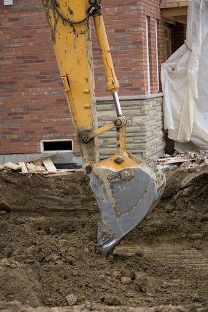construction digger. Stock fotó