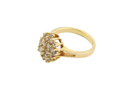 jewelery 012 gold ring isolated.