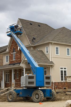 construction boom lift.