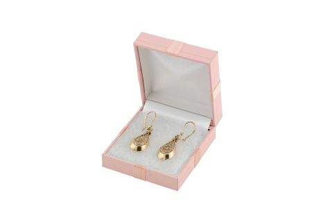 jewelery 025 gold earing in box. photo