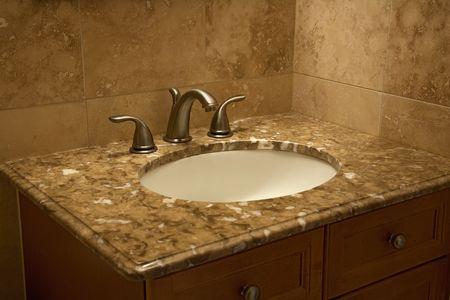 interior bathroom faucet Reklamní fotografie