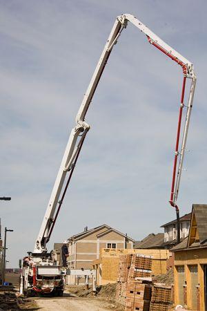 concrete pump: construction Boom Concrete pump