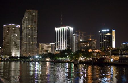 swimm: florida miami night from the boat Stock Photo
