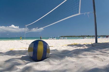 pelota de voleibol: mexico en la playa red y pelota