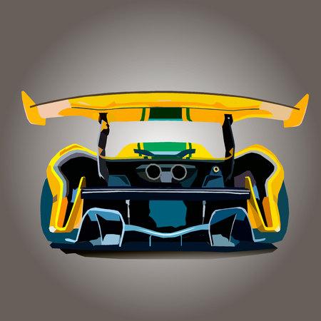 Vecktor illustration back part of sports car.