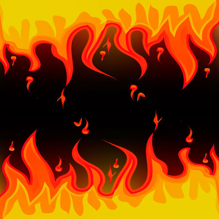 Vector illustration of two ways fire. Illustration