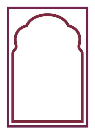 Indian frame on white background - Vector
