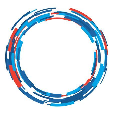 Modèle de conception de mise en page de forme de cercle abstrait de vecteur. Style d'art de fond moderne.