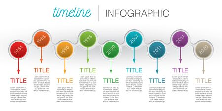 Vector abstract template timeline infographic. Isolated on white background. Ilustracja