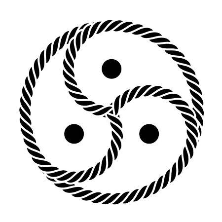 Vector logo black / symbol BDSM from rope