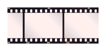Vector negative film strip. Isolated on white background Vector Illustratie