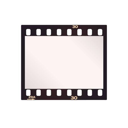 Vector negative film strip. Isolated on white background