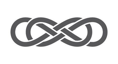 Vector infinity icon symbol. Isolated on white background. Illustration