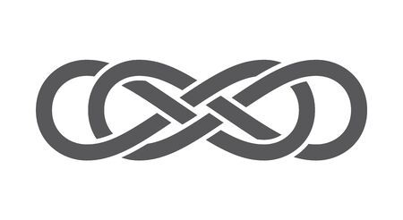 Vector infinity icon symbol. Isolated on white background.