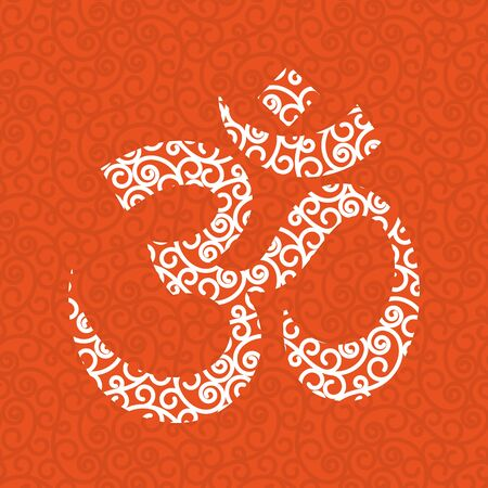 Vector Structure with Om Symbol. Orange background.