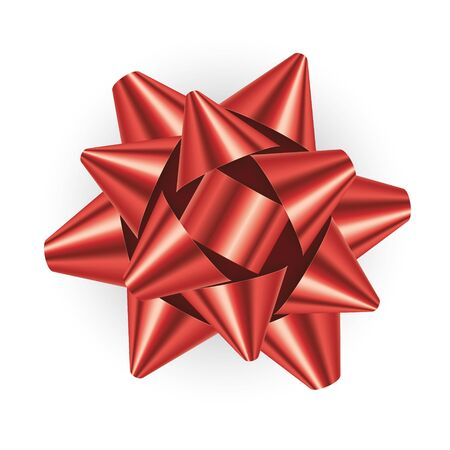 Vector red bow isolated on white background Vektorové ilustrace