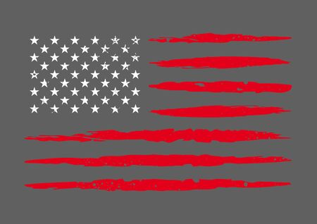 Vector dirty flag of USA. Grunge American flag.