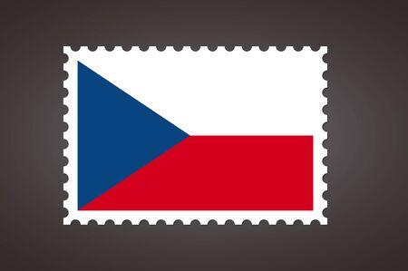 Vector letter stamp flag of CZ. Czech Republic, Czechia flag.