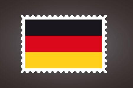 Vector letter stamp flag of DE. Flag of Germany.
