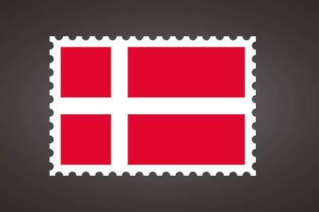 Vector letter stamp flag of DK. Flag of Denmark.