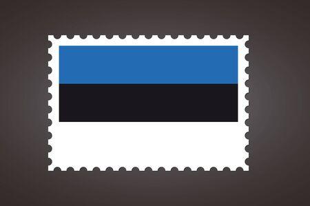 Vector letter stamp flag of EE. Flag of Estonia. Ilustração