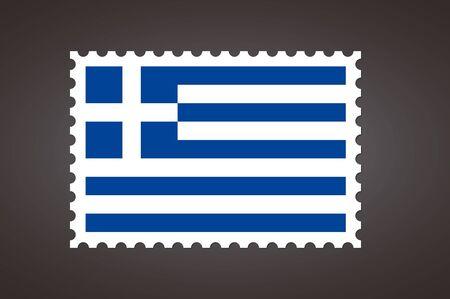 Vector letter stamp flag of EL. Flag of Greece. Ilustração