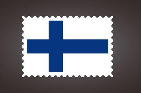 Vector letter stamp flag of FI. Flag of Finland.