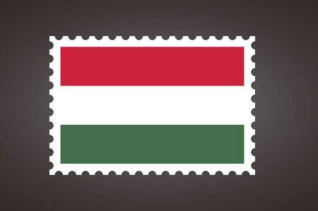 Vector letter stamp flag of HU. Flag of Hungary.