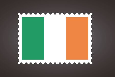 Vector letter stamp flag of IE. Flag of Ireland.