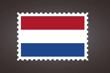 Vector letter stamp flag of NL. Flag of Netherlands.